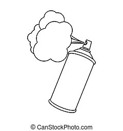 pulvérisateurs, aérosol, nuage, figure, icône