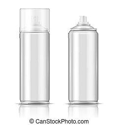 pulvérisation, aluminium, vide, template., boîte