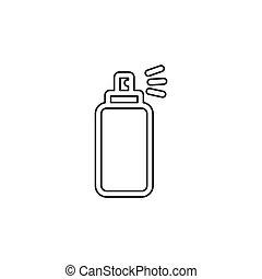 pulvérisation, graffiti, boîte, bouteille, icône, aérosol