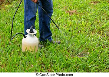 pulvérisation, herbicide