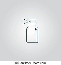 pulvérisation, icône