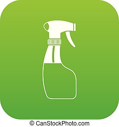 pulvérisation, icône, vert, numérique
