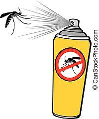 pulvérisation, (repellent, anti, moustique, can)