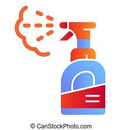 pulverizer, plat, style, 10., icônes, couleur, conçu, eps,...