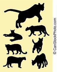 Puma silhouettes 01.