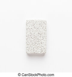 pumice-stone on the white background
