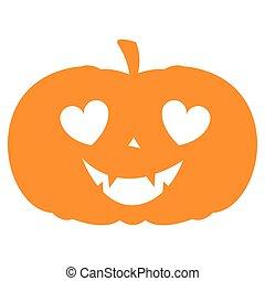 pumkin, halloween, isolé