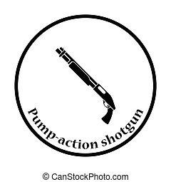 Pump-action shotgun icon