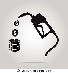 pump, bensin, symbol