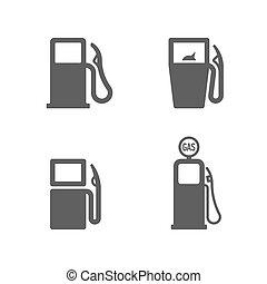 pump, gas, ikonen