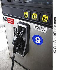 pump, gas, munstycke
