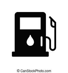 pump glyph flat icon