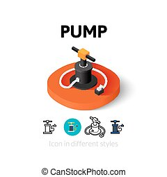 Pump icon in different style