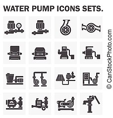 Pump icons - Water pump icons sets.