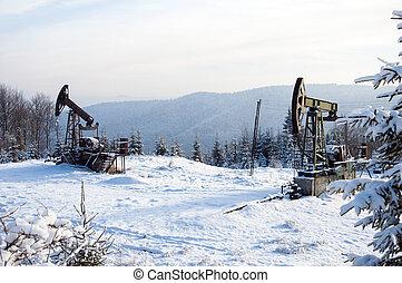 pump., iparág, olaj, equipment.