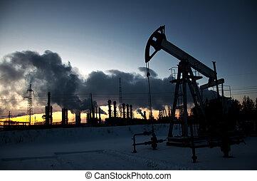 Pump jack and grangemouth refinery