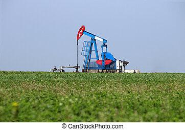 Pump jack on field oil industry