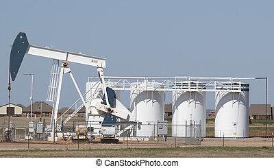 Working pump jack in Oklahoma.