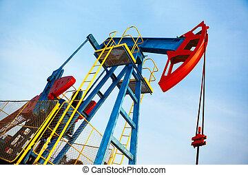 pump, olja, gammal, jack