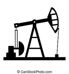 pump, olja, icon.