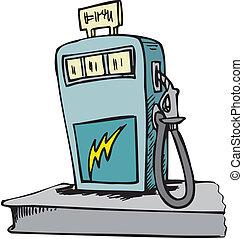 pump, station, bensin, fyllande