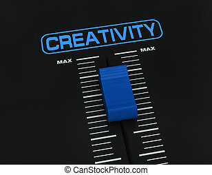 pump up creativity - one mixer slider near to max value with...