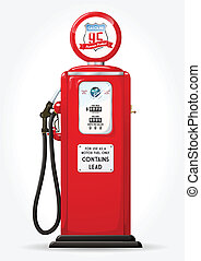pumpa, benzín, za