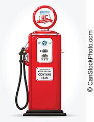 pumpa, benzin, retro