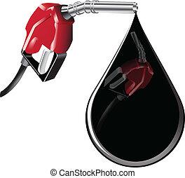 pumpa, csepp, gáz, olaj