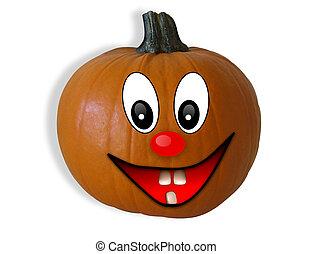 pumpa, lycklig, halloween, 3, ansikte