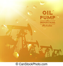 pumpa, olaj, árnykép, bubi, design.