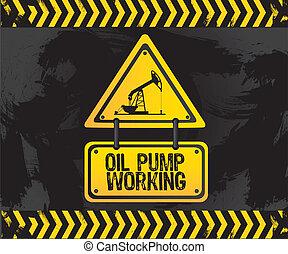pumpa, olaj, aláír