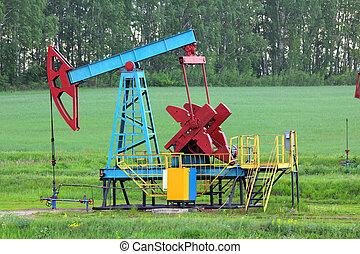 pumpa, olaj, dolgozó