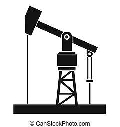 pumpa, olaj, mód, ikon, egyszerű