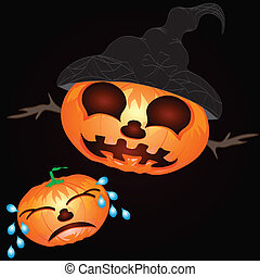 pumpa, vektor, bakgrund, halloween.