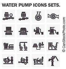 pumpe, heiligenbilder