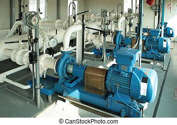 pumpe, pumpenden gas, condensate.