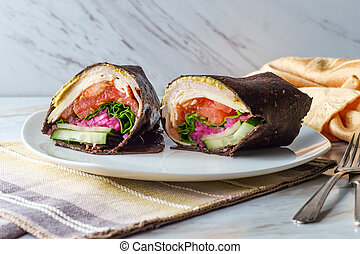 Pumpernickel Bread Sandwich Wrap - Pumpernickel bread ...