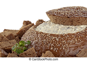pumpernickel bread with spinach dip - Yummy pumpernickel ...