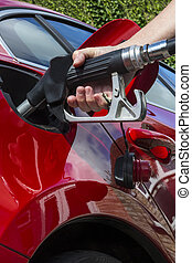 Pumping Gas - Filling a car with fuel - Pumping Gas -...