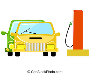 Pumping Gas - Two cars on the refuel station