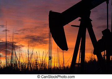 Pumpjack at sunrise