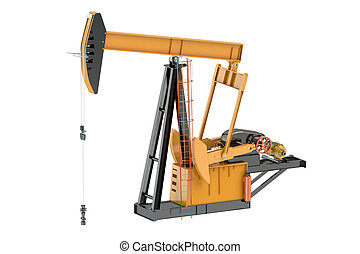 Pumpjack isolated on white background