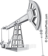 Pumpjack, illustration without gradient colors
