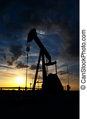 Pumpjack in the sunset
