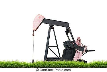 pumpjack isolated
