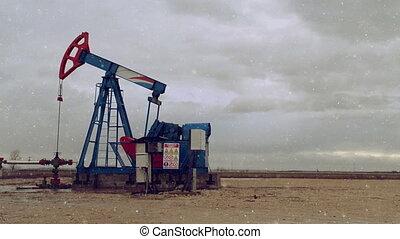 Pumpjack Oil Pump operating