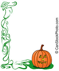 Pumpkin and ghost border