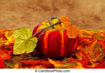 Pumpkin and Leaves