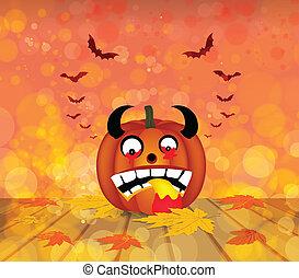 pumpkin autumn background